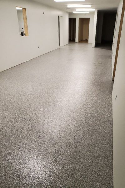 commercial concrete floor coating, after photo