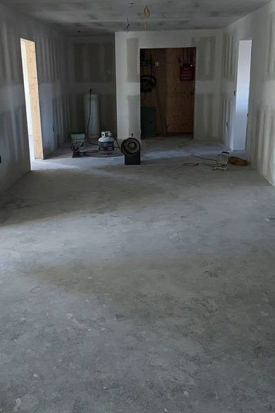 commercial concrete floor coating, before photo