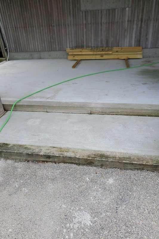 Patio Floor Concrete Coatings Project, Before Photo
