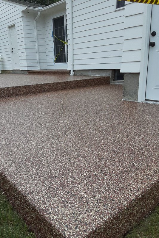 Patio Floor Concrete Coatings Project, After Photo