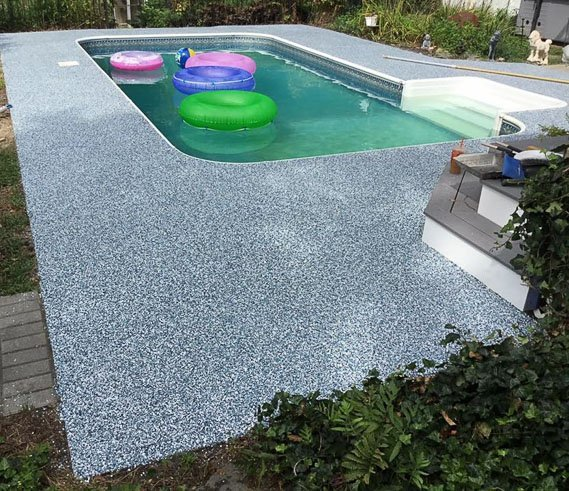 Pool Deck Concrete Coatings Project, After Photo
