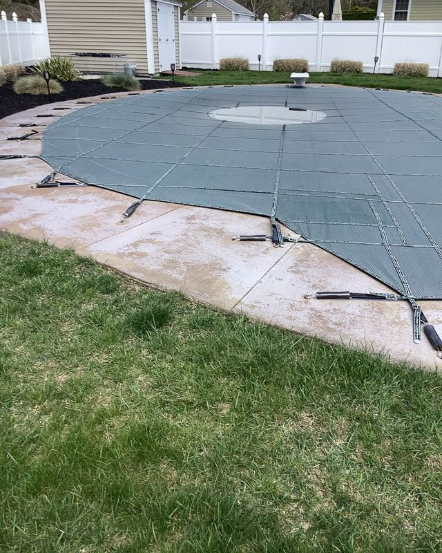 Pool Deck Concrete Coatings Project, Before Photo
