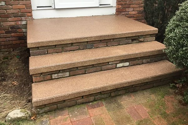 Stairs & Walkways Concrete Coatings Project, After Photo