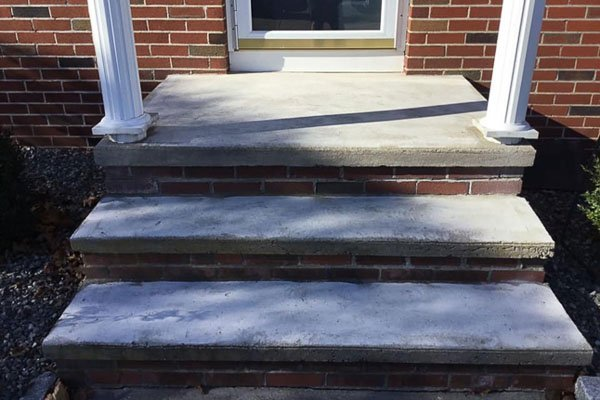 Stairs & Walkways Concrete Coatings Project, Before Photo